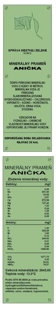 minerálny prameň anička